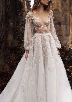 """Naked"" dress design by Paolo Sebastian Wedding Dresses Stunning Bridal Look Dream Wedding, Wedding Day, Trendy Wedding, Summer Wedding, Wedding Unique, Grunge Wedding, Tulle Wedding, Gown Wedding, Blush Colored Wedding Dress"