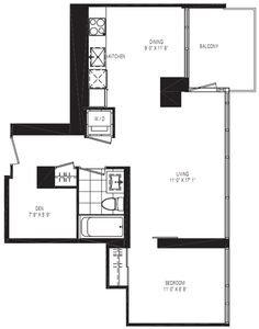 The Space is delineated yet open and the kitchen is open concept yet still has its own space.