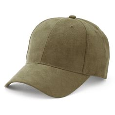 Women's Mudd® Faux Suede Baseball Hat, Med Green