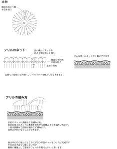 ロゼット編み図