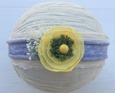 Dainty flower tieback headbandYellow by DESERTROSECOUTURE on Etsy