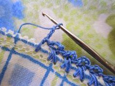 Beginning Crochet Miss Abigail's Hope Chest: Crochet Edged Baby Blankets Crochet Border Patterns, Crochet Boarders, Crochet Blanket Edging, Crochet Trim, Crochet Motif, Crochet Designs, Crochet Yarn, Crochet Stitches, Free Crochet