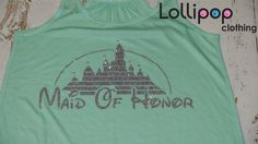 Maid Of Honor tank .Bridel Tank.Future by Lollipopclothing on Etsy