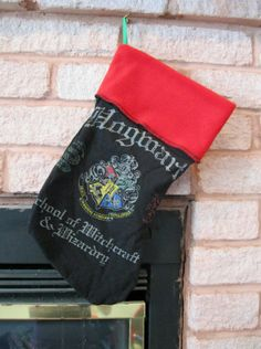 Harry Potter Christmas Stocking DIY Upcycled by DarkStormClothing, $30.00