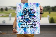 Hey, I found this really awesome Etsy listing at https://www.etsy.com/listing/190712610/life-is-for-poster-life-quote-poster