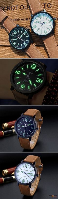 US$5.99 + Free shipping. Band Material Type: PU Leather. Style: Fashion & Casual & Sport. YAZOLE 319 Luminous PU Leather Band Men Analog Sport Wrist Watch. SHOP NOW!
