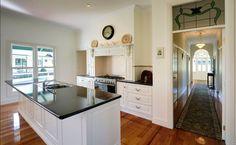 white kitchen - federation style house