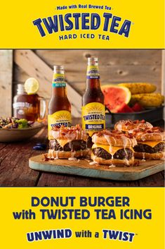 Twist up your of July BBQ with refreshing recipes from Twisted Tea Hard Iced Tea! Food L, Man Food, Love Food, Food Porn, Tea Recipes, Cooking Recipes, Smithfield Foods, Twisted Tea, Homemade Burgers