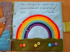 She had this across from her noah's ark page. You could do it with ribbons. You could even have them put them in rainbow order which is also big to small.
