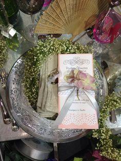 Menù pizzo rosa e grigio #weddinginpink from our wedding to #forwedding2014