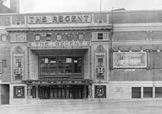 vintage everyday: How British Cinemas have Changed in the Past 100 Years through Pictures The Regent Cinema Sheffield 1927 Chelsea Now, Sources Of Iron, Harbor Lights, Cinema Theatre, Barnsley, Oxford Street, West End, Derbyshire, Picture Show