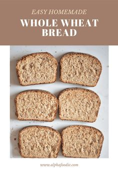 Beginners Bread Recipe, Easy Bread Recipes, Recipes For Beginners, Cooking Recipes, Vegan Recipes, Brown Bread Recipe, Wheat Bread Recipe, Easy Snacks, Easy Meals