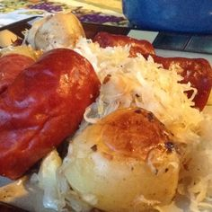 �Roasted Potato Sauerkraut and Sausage casserole. A one pot mealthat is easy and full of flavor.. Roasted Potato Sauerkraut and Sausage Casserole Recipe from Grandmothers Kitchen.