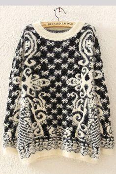 Vintage Round Collar Soft Sweaters