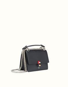 11037e4cc8ad FENDI KAN I SMALL - Mini-bag in black leather Luxury Bags