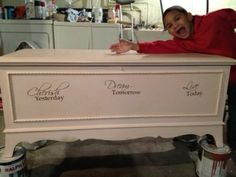 pictures of painted hope chests   Nerney Dressers: My experiments with DIY Chalk paint