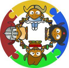 Mon cartable - Site de partage de ressources entre enseignants du préscolaire et du primaire - www.moncartable.ca Png Photo, Smurfs, Holding Hands, Teaching, Education, Fictional Characters, Image, Grade 1, Cows