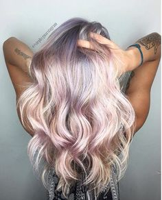 Holographic/pastel - love this look!...