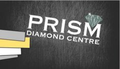 Here's the Front Side of the business card that Cizastudios.com created for Prism Diamond Centre. The logo was a custom creation as well. Centre, Graphics, Graphic Design, Diamond, Logos, Business, Cards, Diamonds, Store