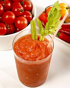 bloody mary using frozen cherry tomatoes! bring on the summer garden!! MarthaStewart.com