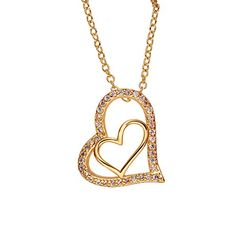 BeOne®Gorgeous Gold-Plated Zircon Double-Heart Pendant Necklace For Wedding Anniversary Valentine's Day BeOne http://www.amazon.com/dp/B015MXVO0O/ref=cm_sw_r_pi_dp_Awrawb03JHSND