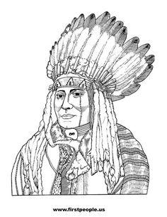 Chief Joseph Clipart to color in