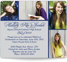 Magnetic Graduation Announcements - Classy Senior