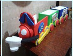 Tren Chu-Chu de la casa de mickey para guarda regalos de tres vagones