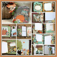 Fall Harvest Mini Album DIY Kit