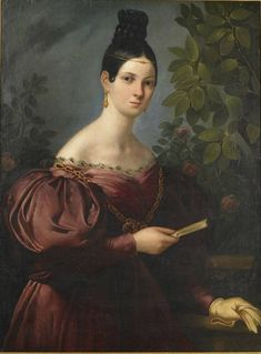 Portrait of Maria Malibran (c.1834). Artist unknown. Oil on canvas. Royal Academy of Music. Malibran (1808-1836) was a mezzo-soprano who commonly sang both contralto and soprano parts, and was one of the most famous opera singers of the 19th century. Malibran was known for her stormy personality and dramatic intensity, becoming a legendary figure after her death at age 28. Contemporary accounts of her voice describe its range, power and flexibility as extraordinary.