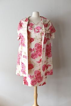 1950's silk rose print set by Molly Modes, available at Xtabay Vintage.