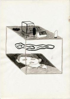Drawings by artist Stephan Dybus Malblock