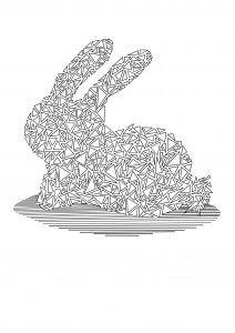 coloriage moderne gratuit lapin - cliquez sur l'image pour télécharger en pdf Free coloring page printable rabbit Coloring Pages, Free, Free Coloring, Rabbits, Modern, Quote Coloring Pages, Kids Coloring, Colouring Sheets, Printable Coloring Pages