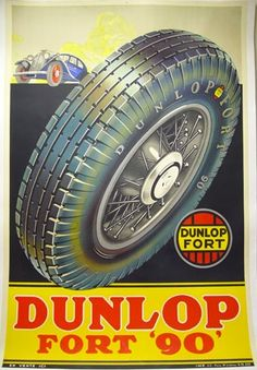 Vintage posters   Dunlop tyres   classic posters