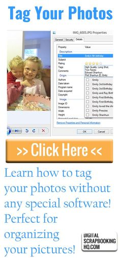 Tag your Photos without any Special Software Did you know you don't need fancy software to tag your photos? Here's how to tag your photos using nothing more than your folder system! Picture Storage, Foto Fun, Tag Photo, Photo Scan, Photo Transfer, Photoshop Tutorial, Photoshop Help, Photo Projects, Photo Tutorial