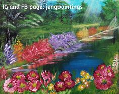 Title: Lake Garden Size: 16x20 Inches Medium: Acrylic on canvas Status: Available (For sale) Price: $ 500  #painting#acrylic#canvas#landscape#art#lake#garden#flowers#forest#walldecor Landscape Art, Landscape Paintings, Lake Garden, Lake Painting, Lake Art, Original Paintings For Sale, Acrylic Canvas, Asian Art, Fine Art Paper