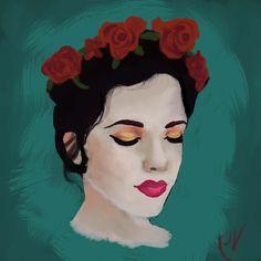 floral crown by KieraV on DeviantArt  redditgetsdrawn photoshop brushes kyletwebster digital oil painting paint