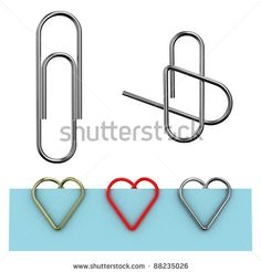 Turning an ordinary paperclip into a heart paperclip