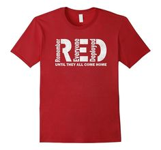 Red Friday Shirt Veterans Day Remember Everyone Deployed