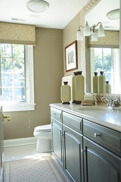 Bleeker Beige  Benjamin Moore -also love greenbrier beige and Manchester tan (in the same color palette) pretty bathroom