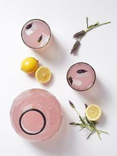 Lavender, Rose Infused Lemonade Recipes