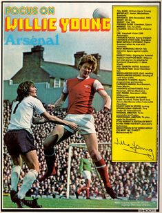 Focus On with Willie Young of Arsenal in Shoot! magazine in 1977.