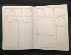 En uke i min punktjournal / Listelykke Bullet Journal 2019, Bullet Journal Spread, Bullet Journals, Bullet Journal Inspiration, Journal Ideas, Study Tips, Filofax, Planner Stickers, Bujo