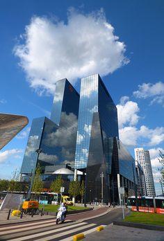 Centraal Station Rotterdam en Nationale Nederlanden gebouw