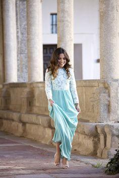 DAVID CHRISTIAN SOFT BLUE DRESS  via Mypeeptoes.com