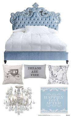 Cinderella themed bedroom in disney 39 s golden oak community for Cinderella bedroom ideas