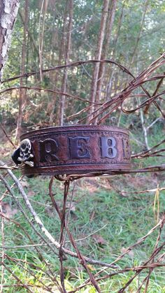 The Rebel - Camo Leather Dog Collar with Skulls and Bones