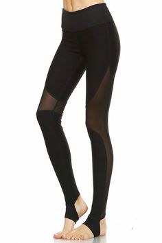 The Jaxson Leggings are full athletic leggings featuring stirrup cutouts at the heel and banded waistband for an effortless fit, mesh paneling on both sides of the leg. Available in Black. Model is wearing a size Small. True to Size. Mesh Yoga Pants, Printed Yoga Pants, Yoga Pants Outfit, Stirrup Leggings, Mesh Leggings, Yoga Leggings, Ballet Clothes, Trendy Clothes For Women, Workout Wear