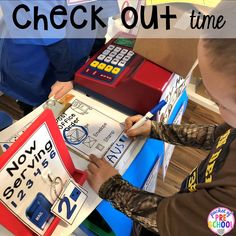 Check out time at the Post Office! How to set up a Post Office in the dramatic play or pretend center. Perfect for a preschool, pre-k, or kindergarten classroom.