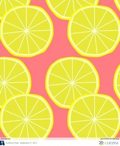 textile patterns: i find the simplicity and choice of colors in this lemon assortment interesting, inspirational and creative. Motifs Textiles, Textile Patterns, Textile Prints, Textile Design, Fabric Design, Pattern Texture, Surface Pattern, Fruit Pattern, Cute Pattern